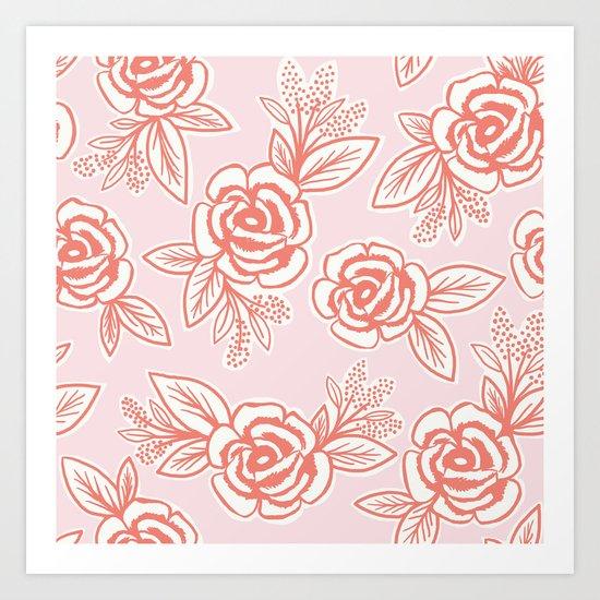 Roses - Pink Art Print