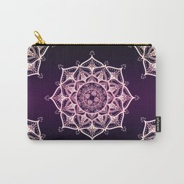 Violet Glowing Spirit Mandala Carry-All Pouch