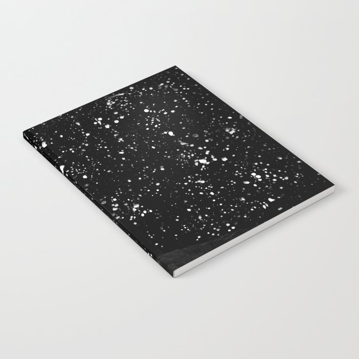 Moon Rising in the dark Black and White Notebook