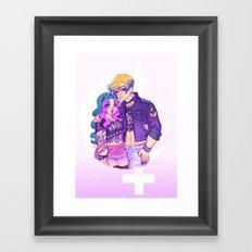 Pastel Goth Haruka & Michiru Framed Art Print