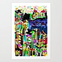 tokyo Art Prints featuring tokyo by sladja