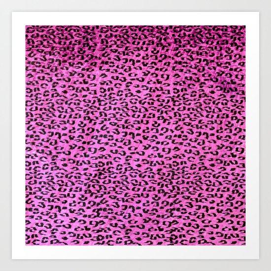 Pink Leopard Spots Art Print