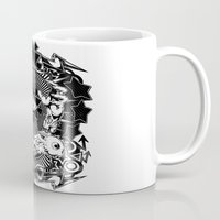 all seeing eye Mugs featuring All seeing eye by Tshirt-Factory
