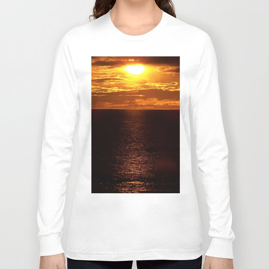Golden Sunset on the Sea Long Sleeve T-shirt