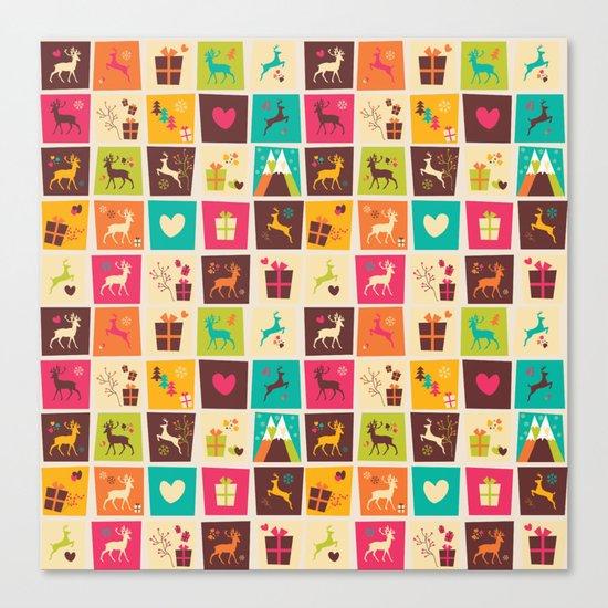 Christmas square pattern 02 Canvas Print