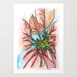 Poinsettia Hope Art Print
