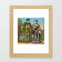 Chinese Costume 1856 Framed Art Print
