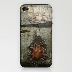 paper III :: octopus/ship iPhone & iPod Skin