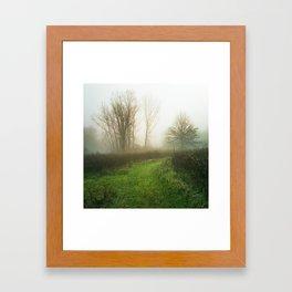 Beautiful Morning - Autumn Field in Fog Framed Art Print