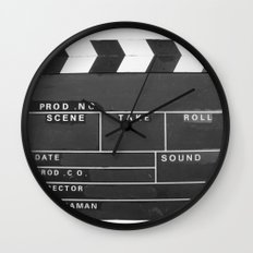 Film Movie Video production Clapper board Wall Clock