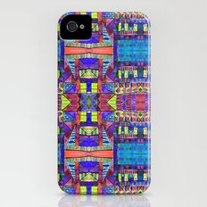 Tribal Patchwork II Blue Slim Case iPhone (4, 4s)