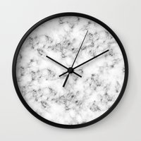 marble Wall Clocks featuring Real Marble  by Grace