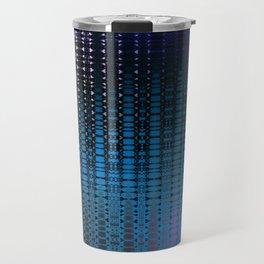 Retro Grid Nightclub Lights Travel Mug