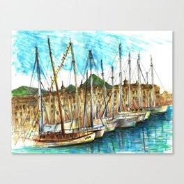 sicily port see Canvas Print