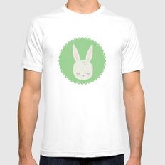 bunny Mens Fitted Tee White MEDIUM