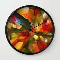 christmas tree Wall Clocks featuring Christmas Tree by Paul Kimble