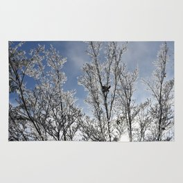 Frosted Dogwood Tree Rug