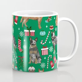 Austrian Cattle Dog red and blue merle christmas presents holiday dog breed pattern pet friendly Coffee Mug