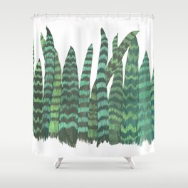 Snake Plants Galore Shower Curtain