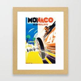 Grand Prix Monaco, 1931, vintage poster Framed Art Print