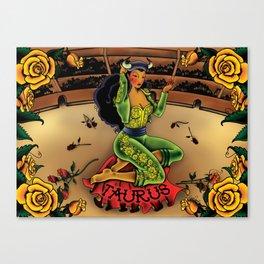 Tattoo Taurus Canvas Print