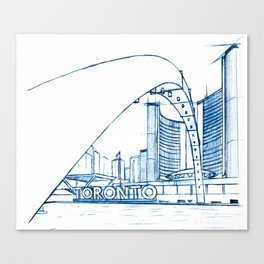 BluePrints | City Hall - Toronto Canvas Print