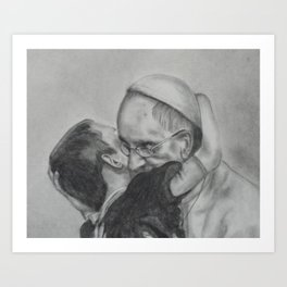 Pope Francis - Showing Us How To Love 2 Art Print