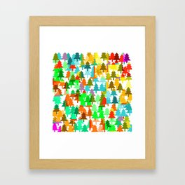 Colorful fir pattern Framed Art Print