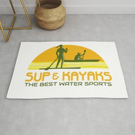 SUP and Kayak Water Sports Retro Rug