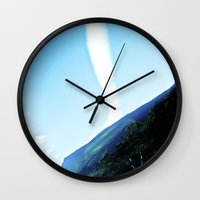rare Wall Clocks featuring Rare cloud. by Alejandra Triana Muñoz (Alejandra Sweet