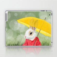 It's raining, little bunny! Laptop & iPad Skin