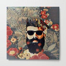 Beard and glasses Metal Print