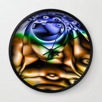 lsd Wall Clocks featuring LSD by Robin Curtiss