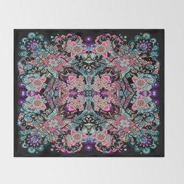 Mandala Colorful Boho Throw Blanket