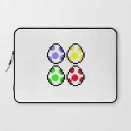 Minimalist Yoshi Eggs Laptop Sleeve