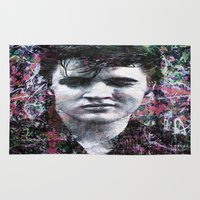 elvis Area & Throw Rugs featuring ELVIS PRESLEY by Vonis