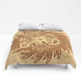 Ganesha Lineart Scroll Comforters