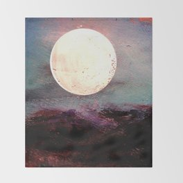 Tonight, I Am Dreaming That We Can Sleep Under The Same Moon. Throw Blanket