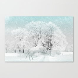 Winter Horse #decoration #buyart #society6 Canvas Print