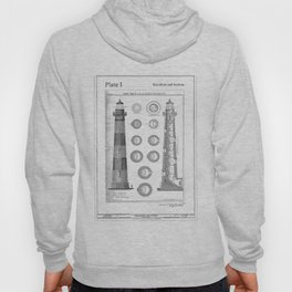 Vintage Bodie Island Lighthouse Diagram Hoody