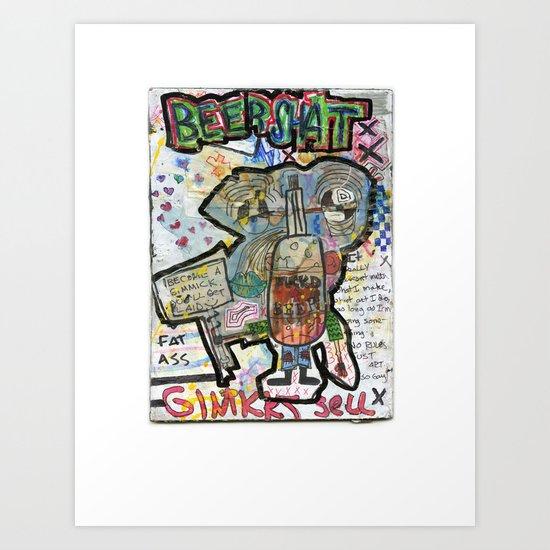 Beershat Art Print