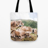 switzerland Tote Bags featuring From Switzerland with Love by Tomas Hudolin