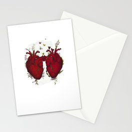 two hearts beating as one Stationery Cards
