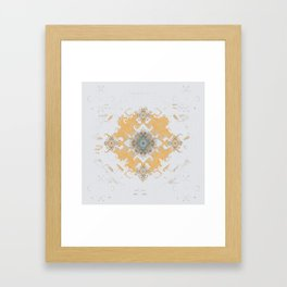 Gold Minimalist Mandala Framed Art Print