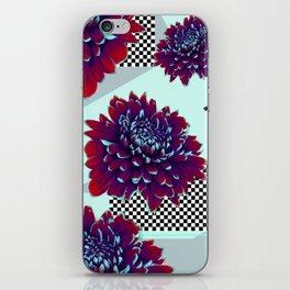 Purple Painted Flowers iPhone Skin