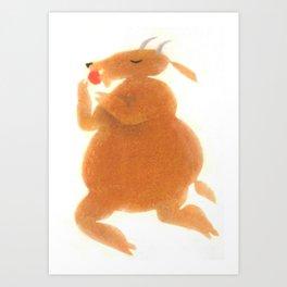 """Une chèvre mange..."" Book cover Art Print"