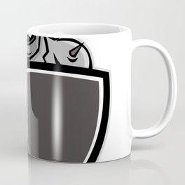 Motorcycle Biker With Shield Mascot Coffee Mug