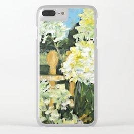 Pam's Hydrangeas Clear iPhone Case