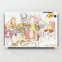 vegetarian iPad Cases featuring Vegetarian Werewolves by chechula