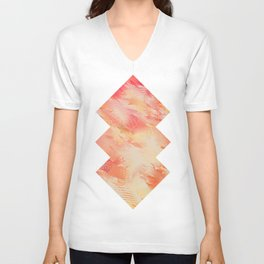 Feathers abstraction Unisex V-Neck